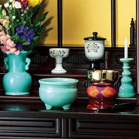 ベルーナインテリア 陶器製仏具7点セット 1 1