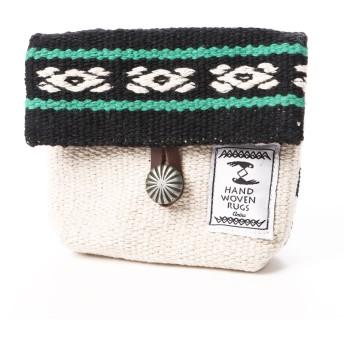 【チャイハネ】メキシカン柄織りポーチ ブラック