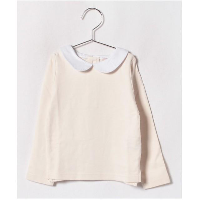 petit main 丸衿シンプルTシャツ(オフホワイト)【返品不可商品】