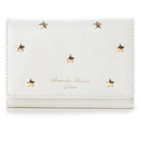 サマンサタバサデラックス スターモチーフ 折財布 ホワイト