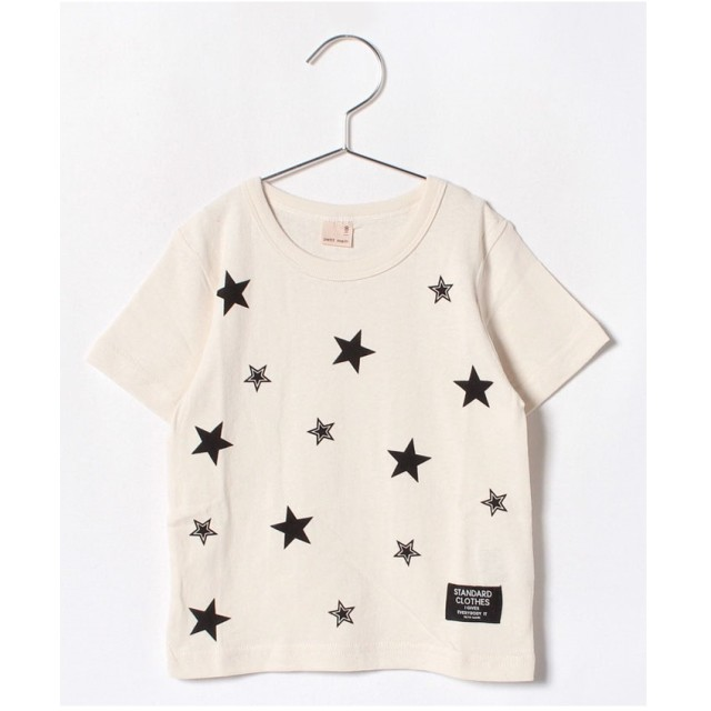 petit main スタープリントTシャツ(ホワイト)【返品不可商品】