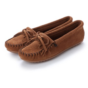 ミネトンカ Minnetonka KILTY Suede Moccasin Shoes (ダークブラウン)