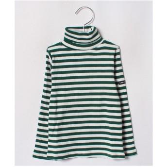 b-ROOM テレコボーダータートルTシャツ(モスグリーン)【返品不可商品】