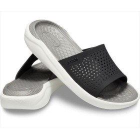 [crocs]クロックス ライトライド スライド (205183)(05M) ブラック/スモーク[取寄商品]