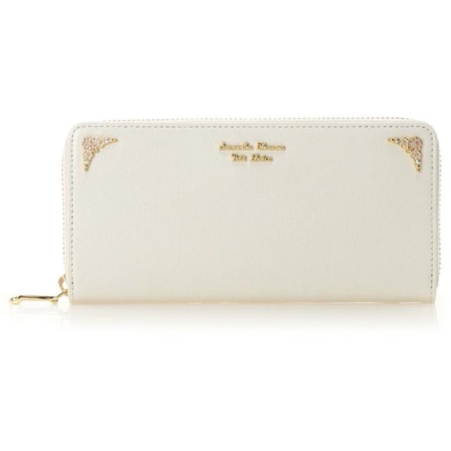 サマンサタバサプチチョイス フラワーモチーフシリーズ(ラウンドジップ長財布) ホワイト