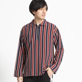 シャツ - WEGO【MEN】 クラブストライプハーフZIPシャツ 218798