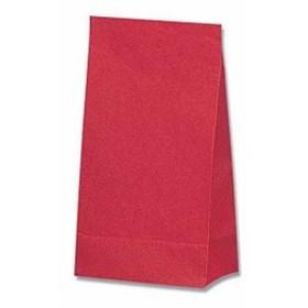 ヘイコー 角底 紙袋 No.6 未晒 クラフト アカ 15x9x28cm 100枚[004053600](赤)