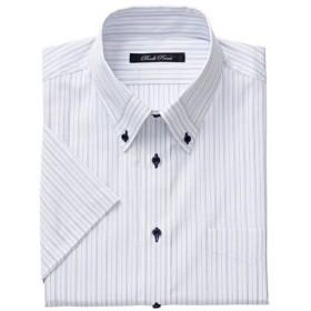 【メンズ】 形態安定デザインYシャツ(半袖) ■カラー:ブルー系 ■サイズ:L,4L,5L,3L