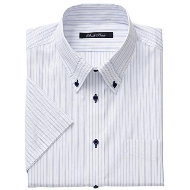 【メンズ】 形態安定デザインYシャツ(半袖) ■カラー:ブルー系 ■サイズ:3L,4L,5L