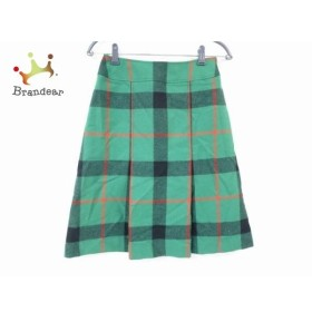 ヨークランド YORKLAND スカート サイズ9AR S レディース 美品 グリーン×黒×レッド チェック柄    値下げ 20190907