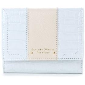 サマンサタバサプチチョイス クロコシリーズ 折財布【3年保証対象品】(ダルブルー)