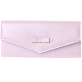 サマンサタバサデラックス リボンデザイン かぶせ長財布 ピンク