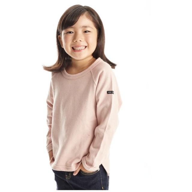 b-ROOM ラグラン長袖Tシャツ(ライトピンク)【返品不可商品】