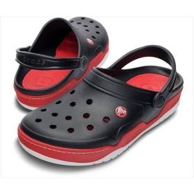 [crocs]クロックス フロント コート クロッグ (14300)(063) ブラック/レッド[取寄商品]