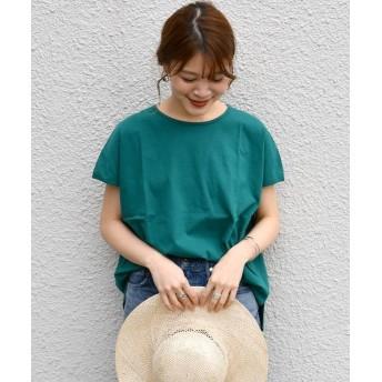 シップス SHIPS Days STANDARD:クルーネック TEE レディース グリーン S~M 【SHIPS】