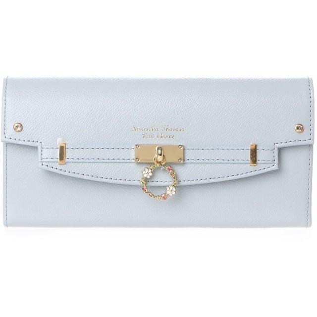 サマンサタバサプチチョイス フラワーリングモチーフ 長財布(ライトブルー)