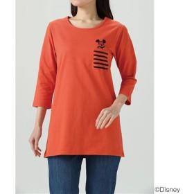 60%OFF【レディース】 7分袖ロングTシャツ(ディズニー) ■カラー:オレンジ ■サイズ:S,M,L,LL,3L