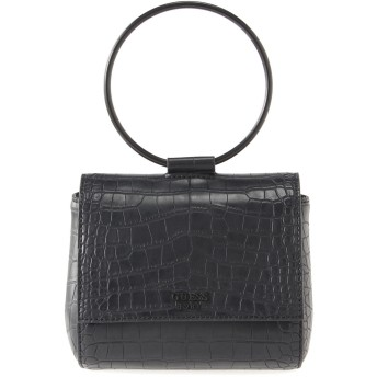 ゲス GUESS KEATON O-RING MINI CROSSBODY FLAP (BLACK)