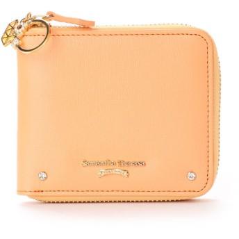 サマンサタバサプチチョイス バースデーストーンシリーズ 折財布(オレンジ)
