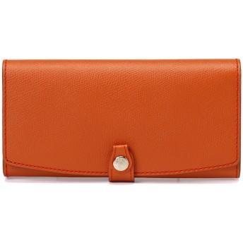 トプカピ TOPKAPI 角シボ型押し長財布 (オレンジ)