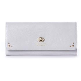 サマンサタバサプチチョイス ブローチパールシリーズ(長財布) ラベンダー