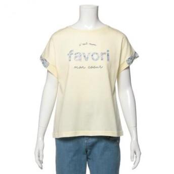 ポンポネット ジュニア/リバティプリント柄リボンつきTシャツ