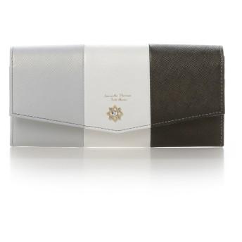 サマンサタバサプチチョイス フラワーモチーフシリーズマルチカラーバージョン長財布 ブラック