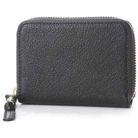 ペルケ perche ソフトバッファローラウンドミニ財布 (ブラック)