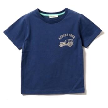 【予約】BEAMS mini / アフリカスーベニアTシャツ (90~150㎝) キッズ Tシャツ D.BLUE 110