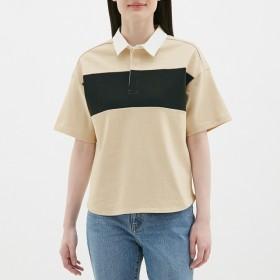 GU ジーユー ラガーシャツ 5分袖 レディース
