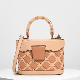 ウーブン トップハンドルバッグ / Woven Top Handle Bag (Beige)