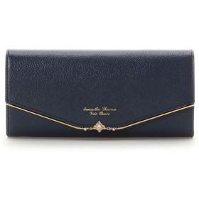 サマンサタバサプチチョイス ビジューバー金具シリーズ (長財布) ネイビー
