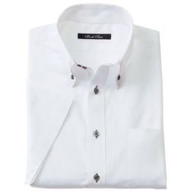 【メンズ】 形態安定デザインYシャツ(半袖) ■カラー:ホワイト・ドビー ■サイズ:LL,3L,4L,5L
