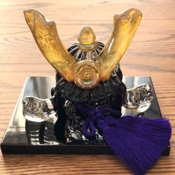 ぷくガラスの兜 水中月黒輝(端午の節句)五月人形