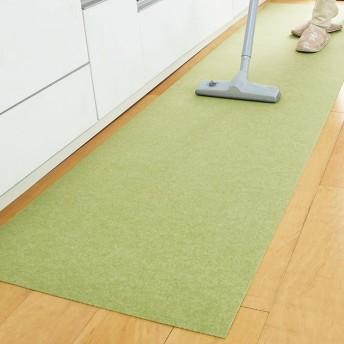 ベルーナインテリア 吸着床ピタはっ水キッチンマット ベージュ 約60×120cm