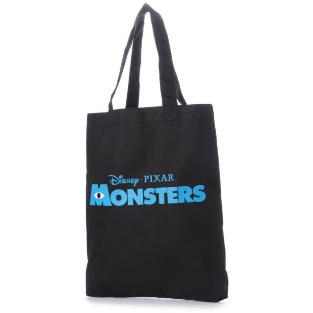 ディズニー Disney ディズニー【Disney】ロゴ入りトートバッグ (ブラック×ブルー)