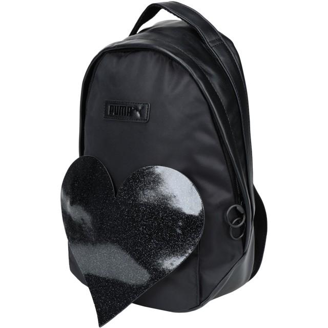 《セール開催中》PUMA ガールズ 3-8 歳 バックパック&ヒップバッグ ブラック ポリウレタン 60% / ナイロン 25% / ポリエステル 15% Prime Archive Backpa