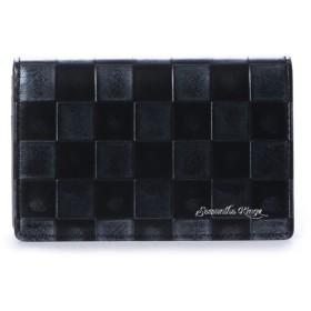 キングズ バイ サマンサタバサ 市松模様柄 バイカラー カードケース ブラック