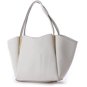 リム(LIMP)【定番人気】マルチポーチ付きメタルトートバッグ (ホワイト)