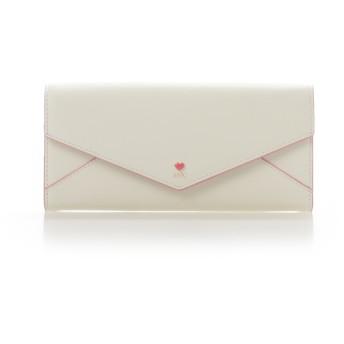 サマンサタバサプチチョイス プチハートラブレターかぶせ財布 ホワイト