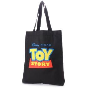 ディズニー Disney ディズニー【Disney】ロゴ入りトートバッグ (ブラック×レッド)