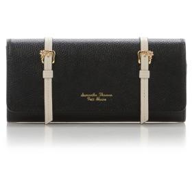 サマンサタバサプチチョイス ダブルベルトデザインシリーズ長財布 ブラック