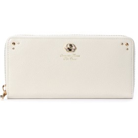 サマンサタバサプチチョイス ブローチパールシリーズ(ラウンドジップ長財布) オフホワイト