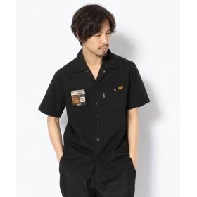 ショット T/C WORK SHIRT/TC 半袖 ワークシャツ メンズ BLACK S 【Schott】
