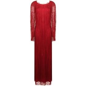 Alberta Ferretti フリンジ イブニングドレス - レッド