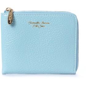 サマンサタバサプチチョイス ソフトレザーシリーズ(折財布) ブルー