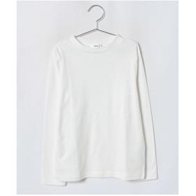 koe kids スムースチビハイネック長袖Tシャツ(アイボリー)【返品不可商品】