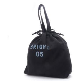 ヒッチハイクマーケット HITCH HIKE MARKET Bright summer 巾着トートバッグ (ブラック)