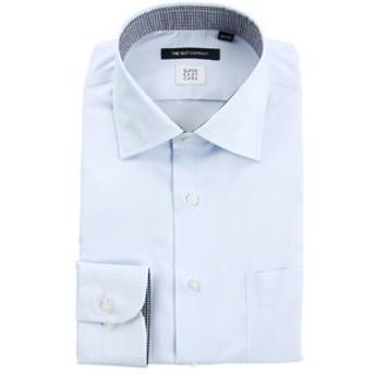 【THE SUIT COMPANY:トップス】【SUPER EASY CARE】ワイドカラードレスシャツ 無地 〔EC・BASIC〕