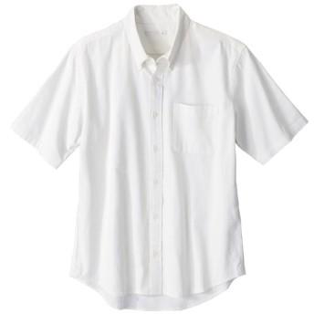 綿100%オックスフォードカジュアル半袖シャツ(消臭テープ付) カジュアルシャツ